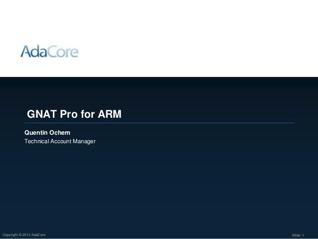 GNAT Pro for ARM processors