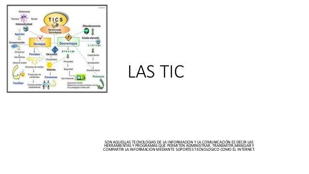 LAS TIC SON AQUELLAS TECNOLOGIAS DE LA INFORMACION Y LA COMUNICACIÓN ES DECIR LAS HERRAMIENTAS Y PROGRAMAS QUE PERMITEN AD...
