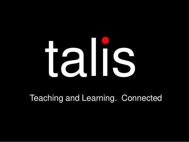 Trends in education technology and what this means for Talis Aspire (Dave Errington, CEO Talis)