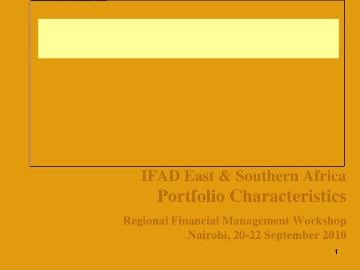 IFAD East & Southern Africa Portfolio Characteristics
