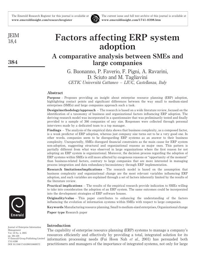 9. Factors Affecting Erp System Adoption
