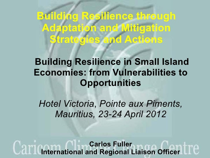 Building Resilience through Adaptation and Mitigation  Strategies and ActionsBuilding Resilience in Small IslandEconomies:...