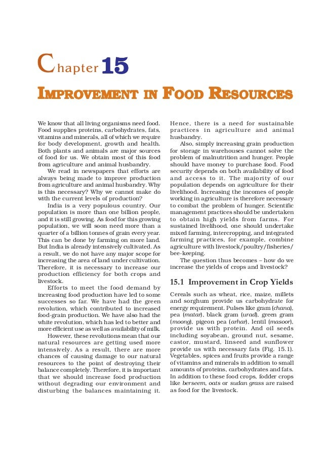 9 improvement in food resources for Cuisine resources