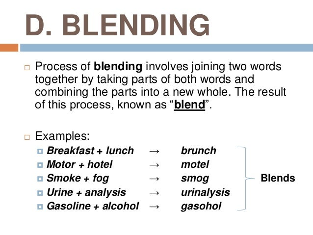 welcome to my blog: acronym and blending