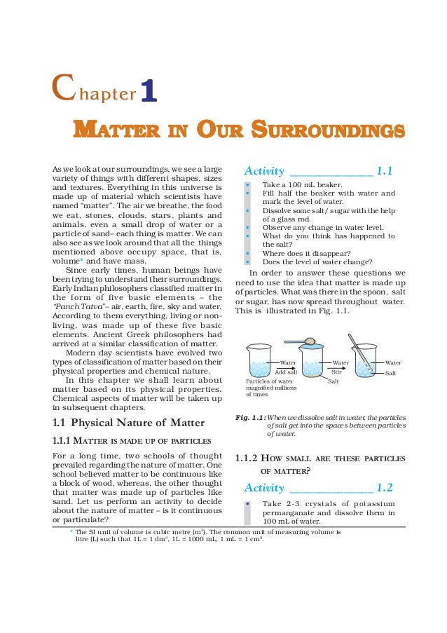 9   matter in our surroundings