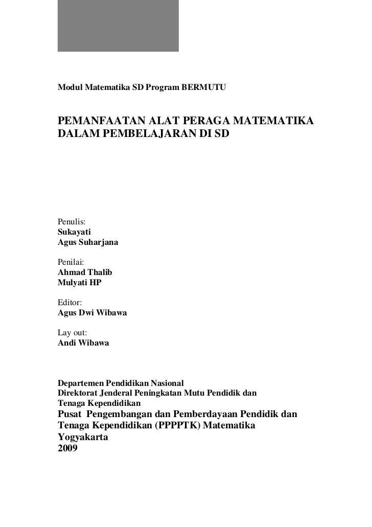 Pemanfaatan Alat Peraga Matematika Dalam Pembelajaran di SD