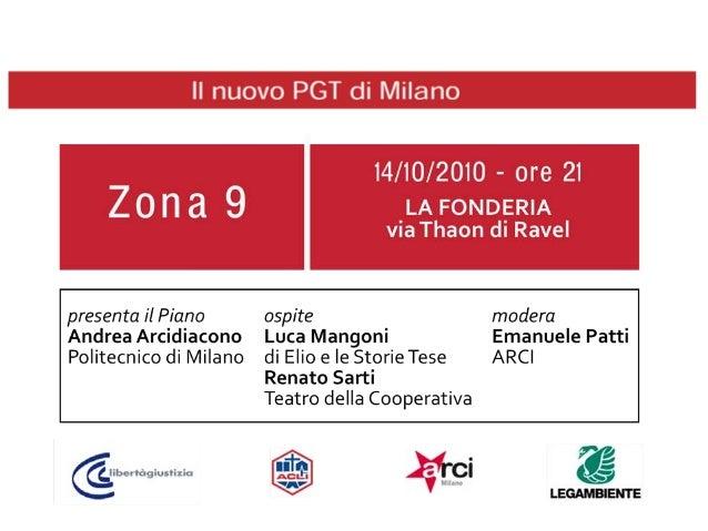 PIANO DI GOVERNO DEL TERRITORIO l.r.12/2005 Documento di Piano Piano dei Servizi Piano delle RegoleIl nuovo PGT di Milano ...