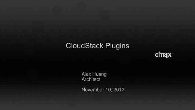 Alex HuangArchitectNovember 10, 2012
