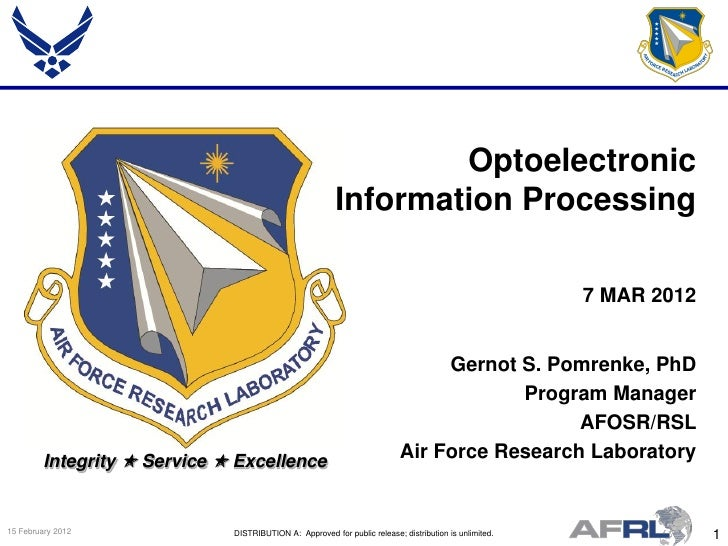 Optoelectronic                                                         Information Processing                             ...