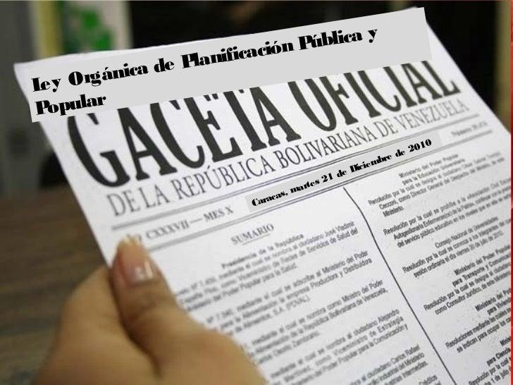 ública y                      icación P              e PlanifL y Or e    gánica dP pular  o                               ...