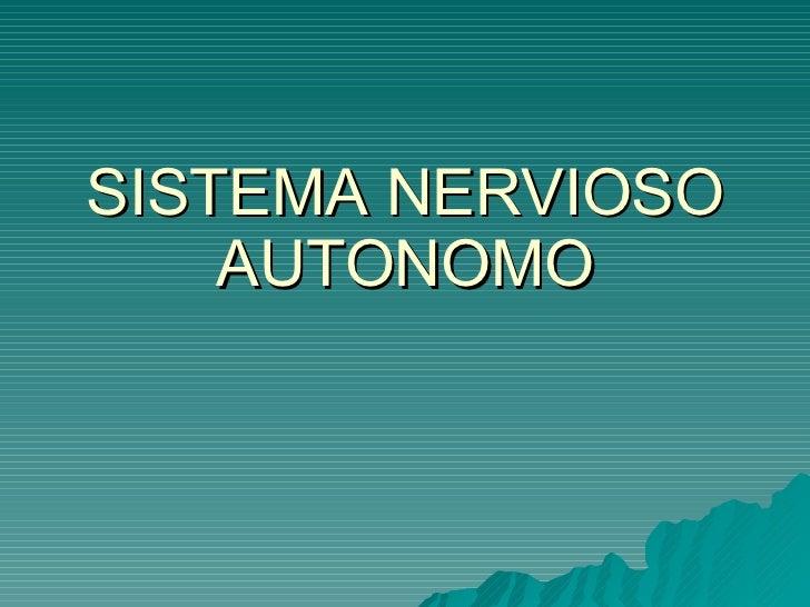 9. Sistema Nervioso Autonomo