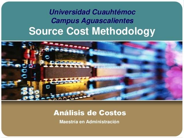 9. Source Cost Methodology