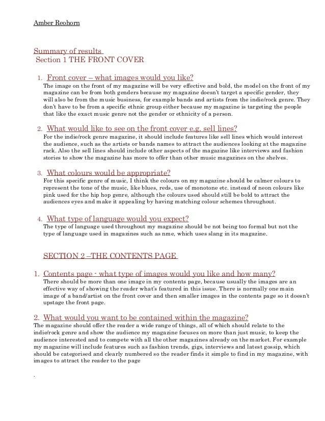 Audience profile essay