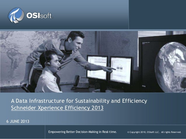 Empowering Better Decision-Making in Real-time. © Copyright 2010, OSIsoft LLC. All rights Reserved.A Data Infrastructure f...
