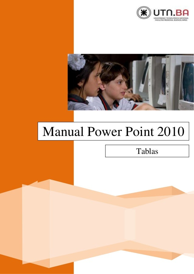 Manual Power Point 2010 Tablas
