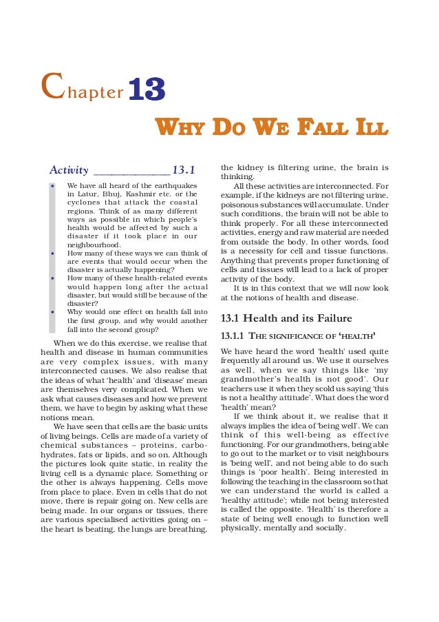 9   why do we fall ill