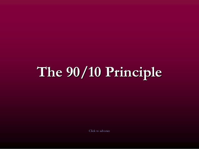 The 90/10 Principle by Stephen Covey