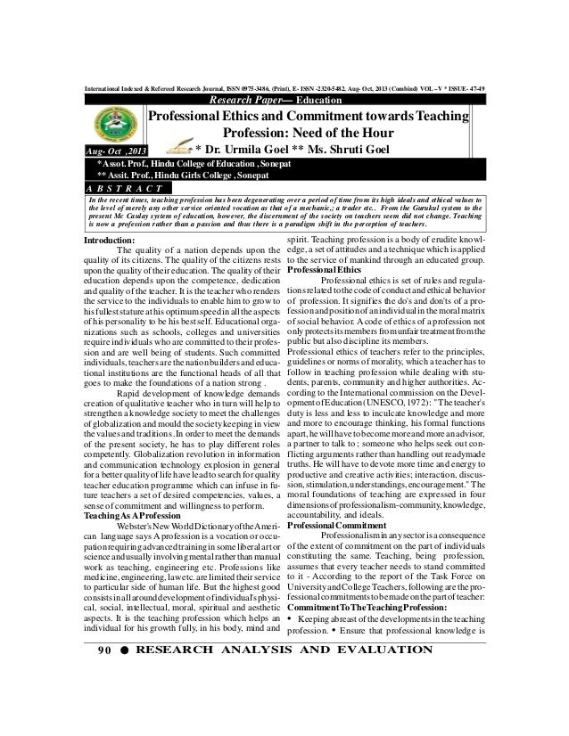 90 RESEARCH ANALYSIS AND EVALUATION International Indexed & Refereed Research Journal, ISSN 0975-3486, (Print), E- ISSN -2...