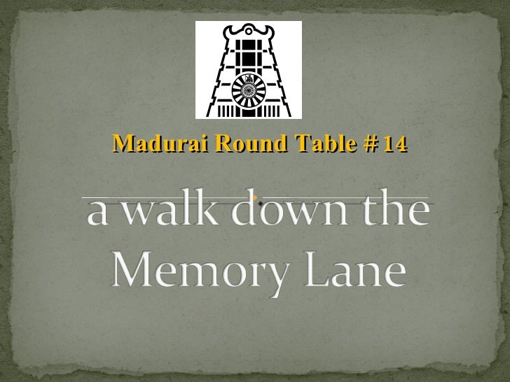 Madurai Round Table # 14