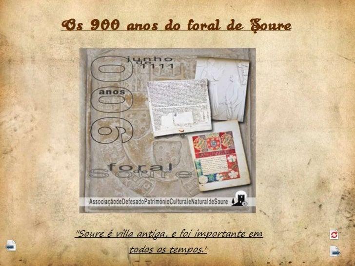 900 anos do foral de Soure