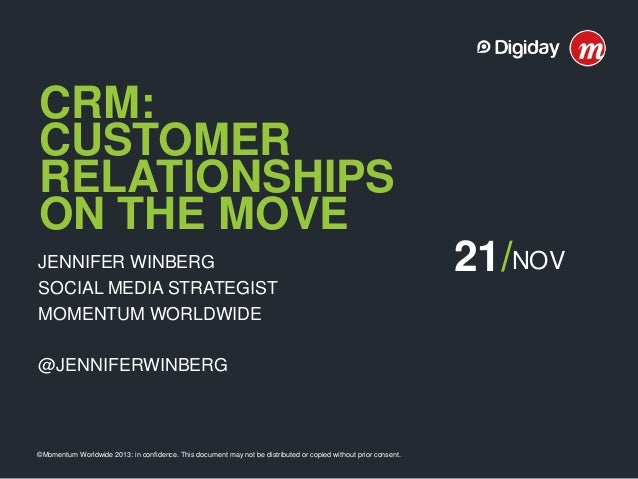 Case Study: CRM: Customer Relationships on the Move