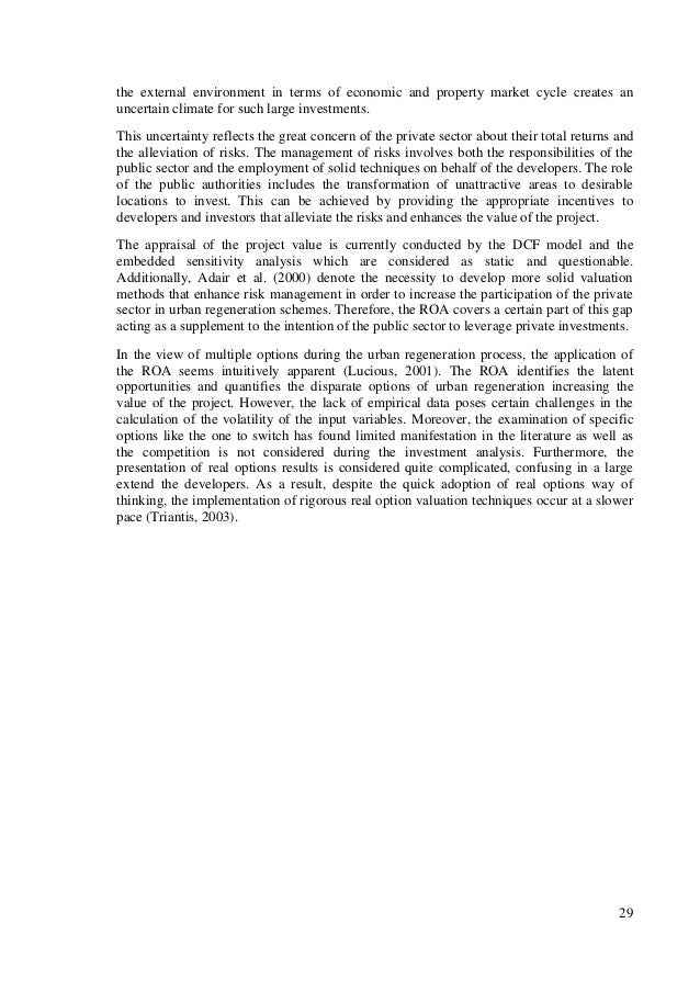 Master thesis empirical study