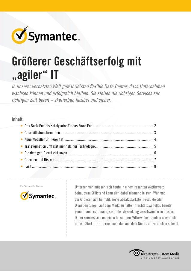 """Größerer Geschäftserfolg mit """"agiler"""" IT"""