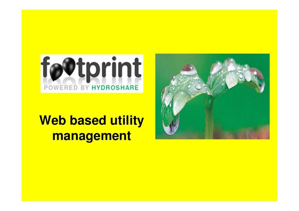 Web based utility management