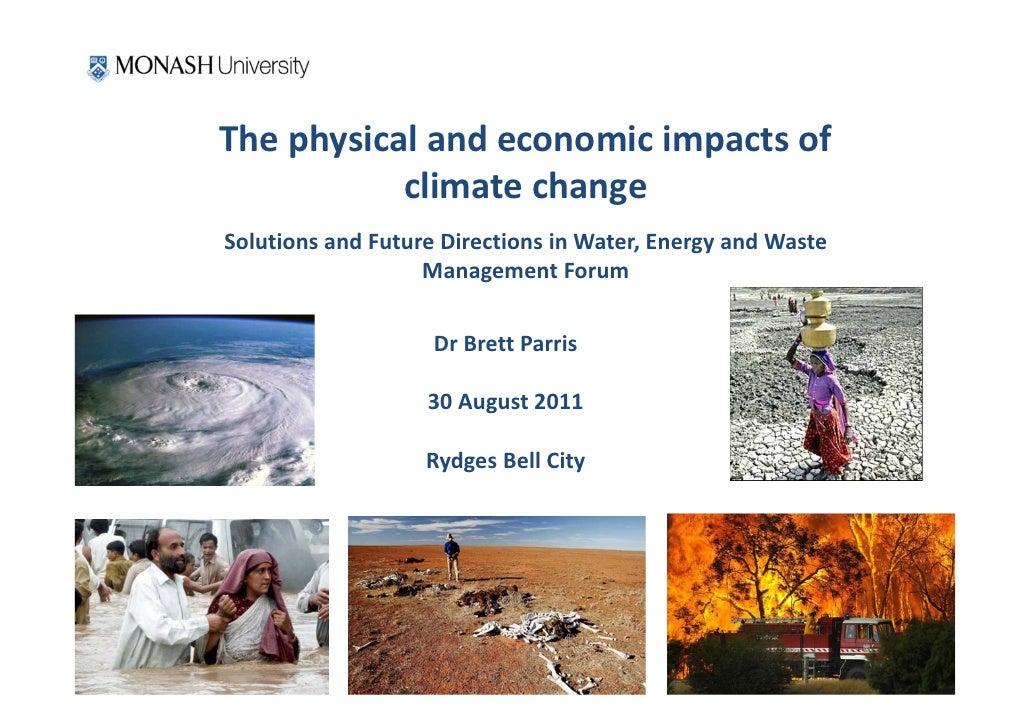 Thephysicalandeconomicimpactsof           climatechangeSolutionsandFutureDirectionsinWater,EnergyandWaste ...