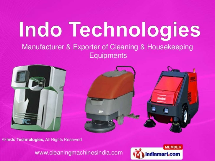 Manufacturer & Exporter of Cleaning & Housekeeping                            Equipments© Indo Technologies, All Rights Re...
