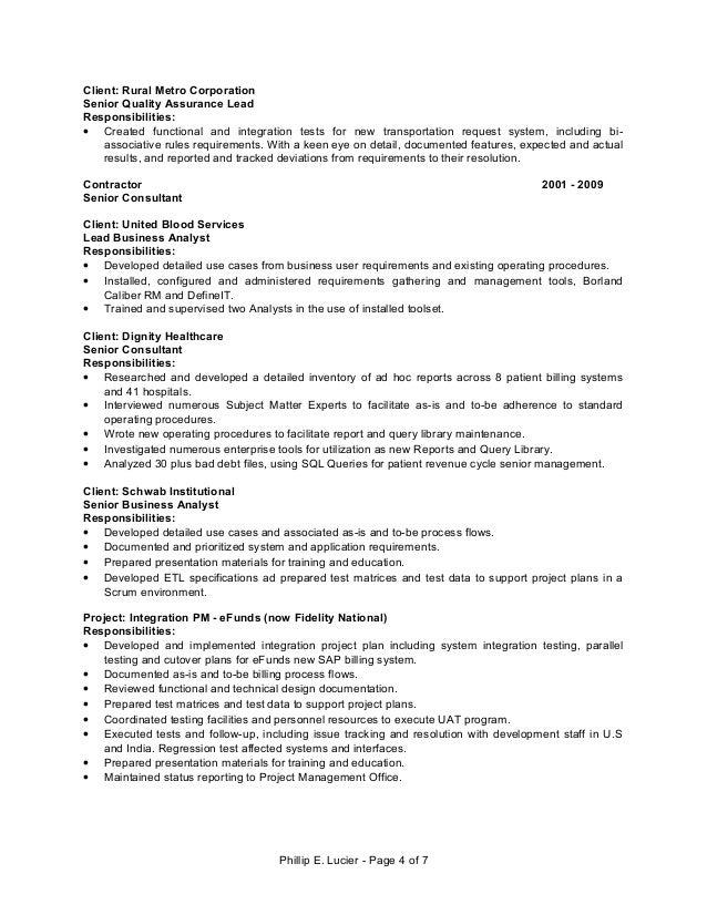 Caliber rm resume
