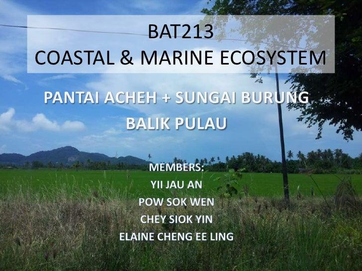 BAT213COASTAL & MARINE ECOSYSTEM