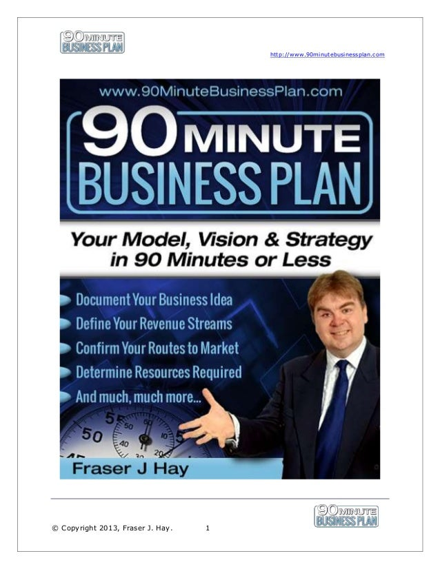 90 minute business plan | Sneak Peek