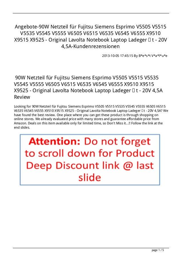 Angebote-90W Netzteil für Fujitsu Siemens Esprimo V5505 V5515 V5535 V5545 V5555 V6505 V6515 V6535 V6545 V6555 X9510 X9515 ...