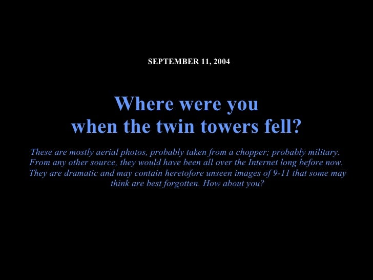 911 - We Shall Never Forget!