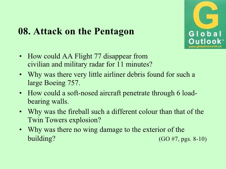 08. Attack on the Pentagon <ul><li>How could AA Flight 77 disappear from </li></ul><ul><li>civilian and military radar for...
