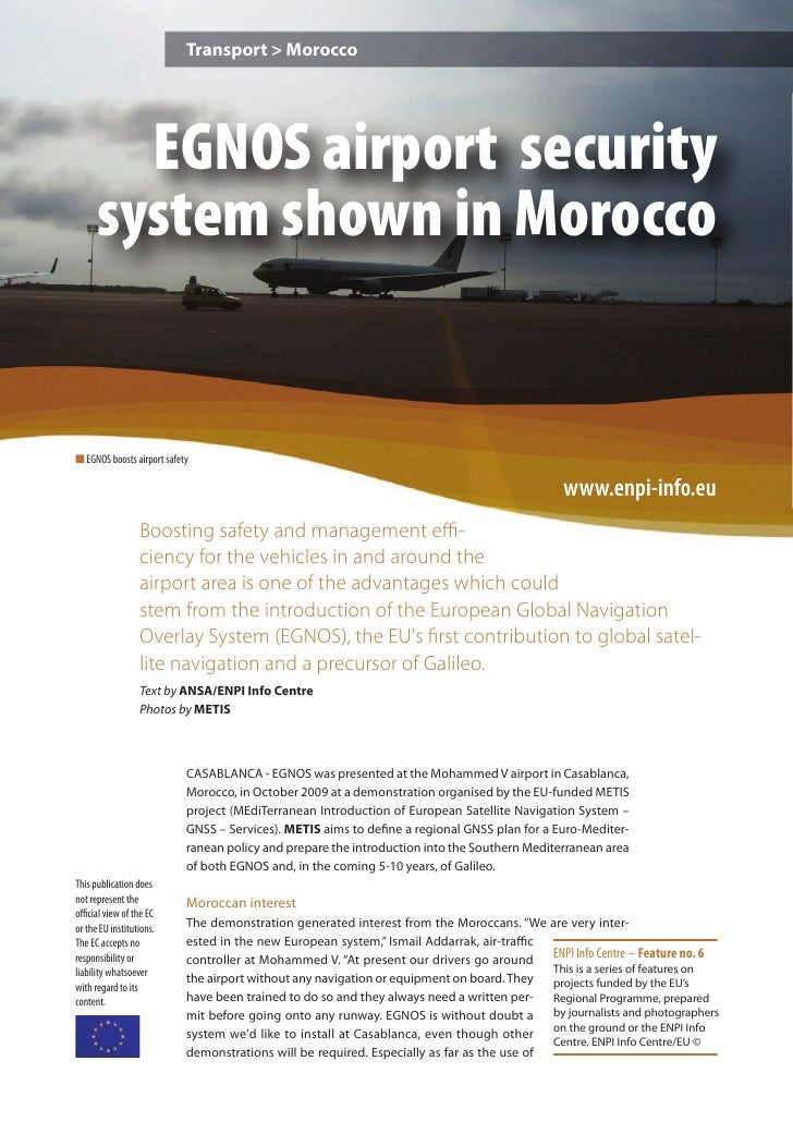 EGNOS airport security system shown in Morocco