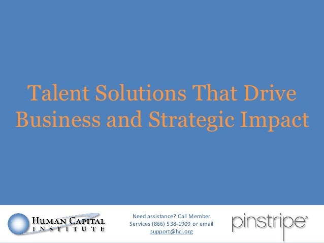 Talent Solutions That Drive Business and Strategic Impact