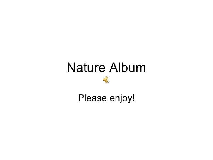 Nature Album Please enjoy!