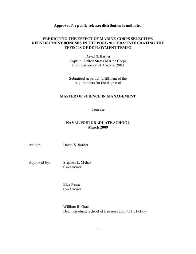nps thesis abstracts Naval postgraduate school monterey, california 93943-5138 nps-09-07-007 compilation of thesis abstracts september 2007 office of the associate provost and dean of.