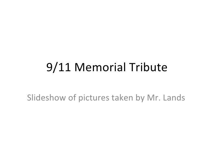 911 memorial tribute