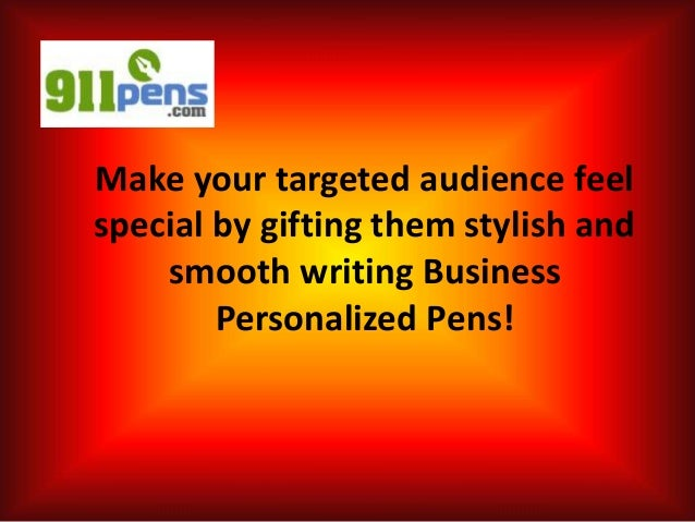 Make your targeted audience feel special by gifting them stylish and smooth writing Business Personalized Pens!