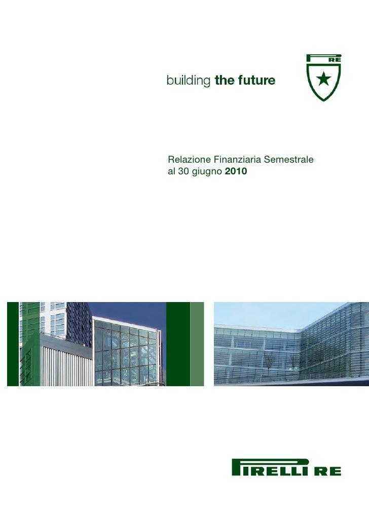 Relazione Finanziaria Semestrale al 30 giugno 2010