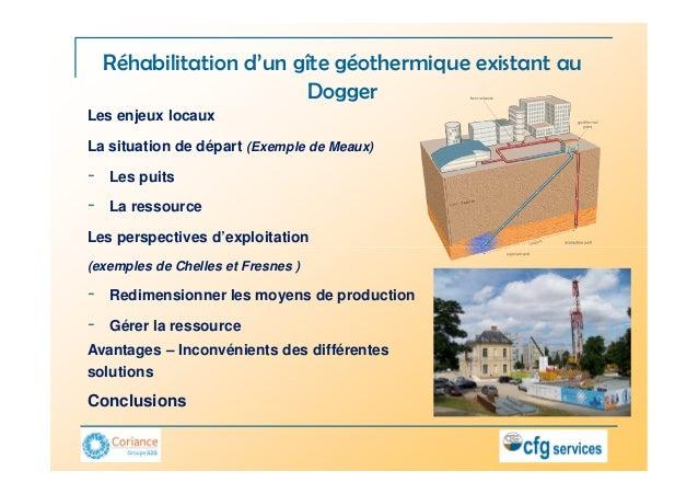 Réhabilitation d'un gîte géothermique existant au                         DoggerLes enjeux locauxLa situation de départ (E...