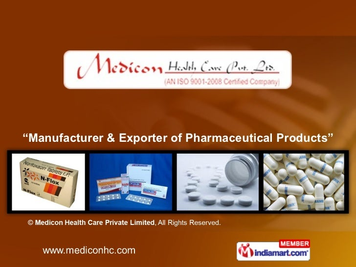 """"""" Manufacturer & Exporter of Pharmaceutical Products"""""""