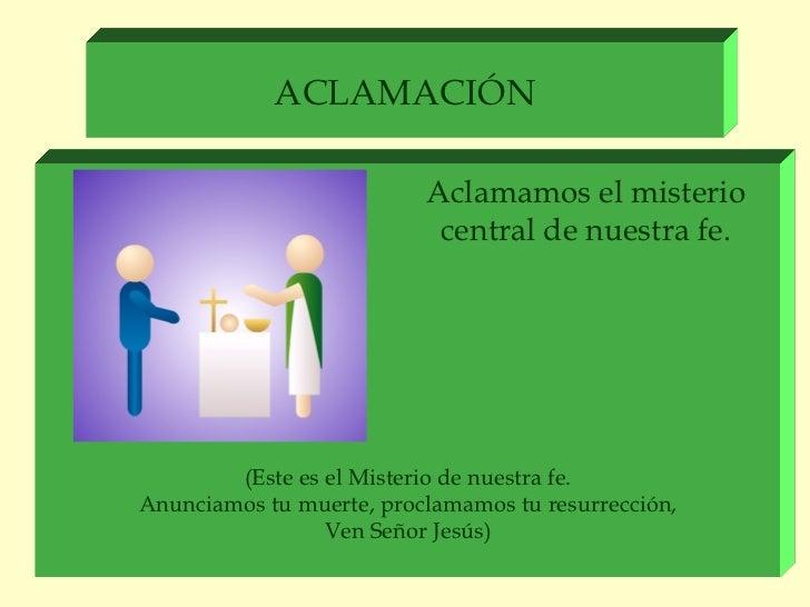 Resultado de imagen para Aclamaciones durante la misa