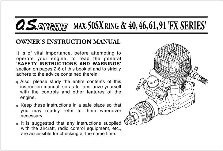 It is of vital importance, before attempting to operate your engine, to read the general 'SAFETY INSTRUCTIONS AND WARNINGS...
