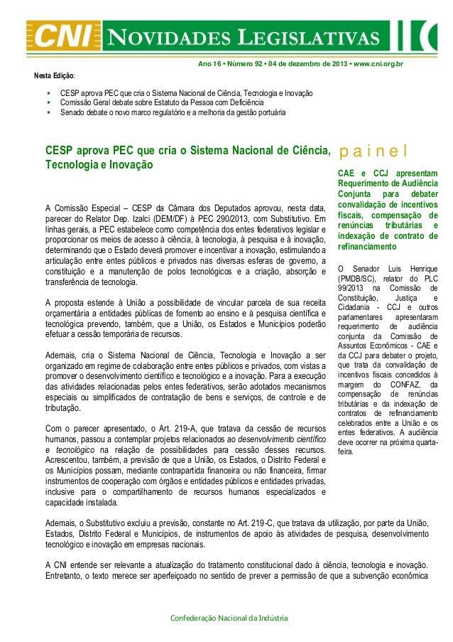 Novidades Legislativas Nº 92 04/12/2013.