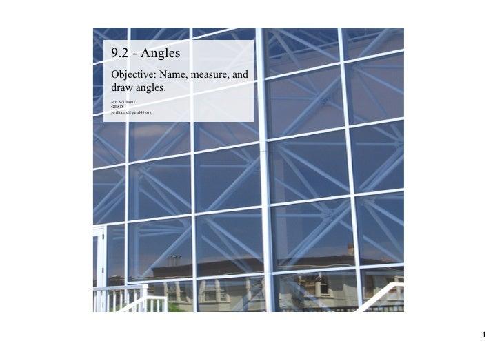 9.2 Angles
