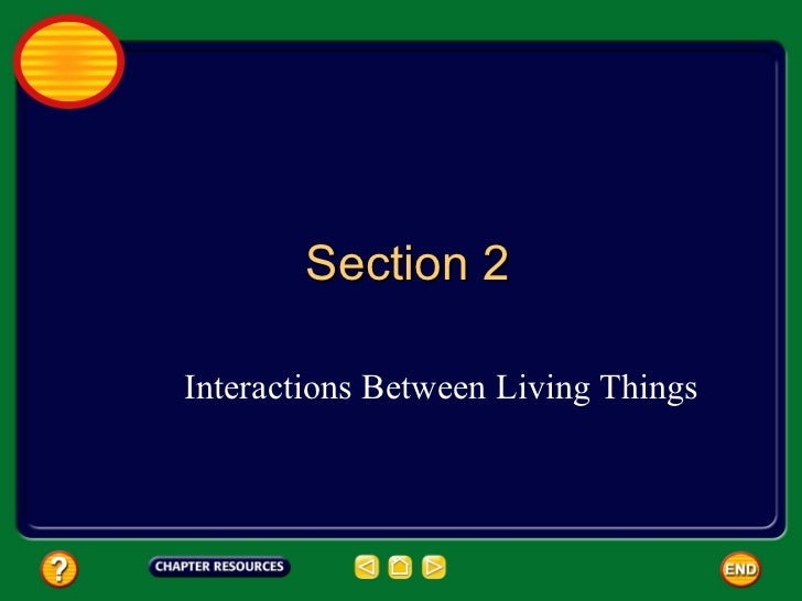 Complete Chapter 9:2 - Interactions Between Living Things